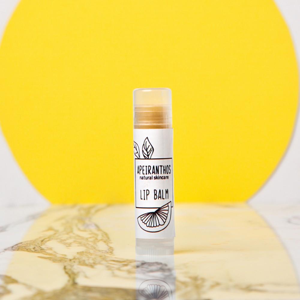 Lip balm με πορτοκαλι από την εταιρεία apeiranthos